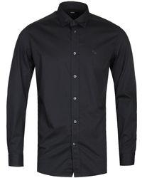 DIESEL S-harras Camicia Black Long Sleeve Shirt