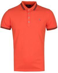 DIESEL T-randy Camicia Orange Polo Shirt