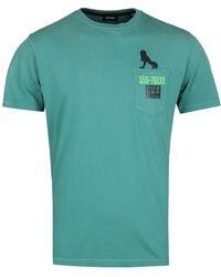 DIESEL T-joe-st Green T-shirt