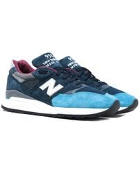 New Balance Made In Usa 998 Blue & Gray Suede Sneakers