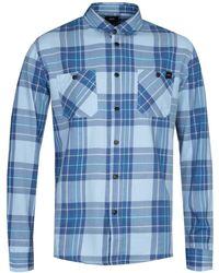 Edwin Light Blue Checked Labor Shirt