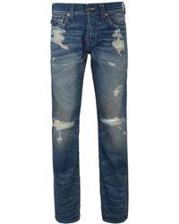 b1121a3d1 True Religion - Blue Indigo Selvage Edqm Ricky W Flap Jeans - Lyst