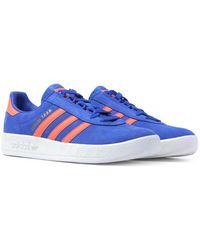 adidas Originals Trimm Trab Electric Blue Nubuck Suede Sneakers