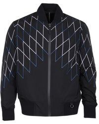 Neil Barrett Football Net Black Bomber Jacket