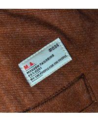 Marshall Artist Rust Orange Workshop Chino Trousers - Brown