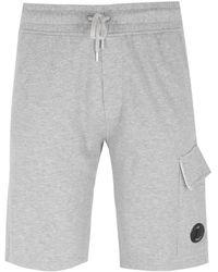 C.P. Company Grey Marl Goggle Sweat Shorts
