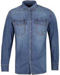 DIESEL Rooke Mid Blue Chambray Work Shirt