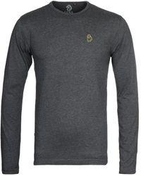 Luke 1977 Trouser Snake Long Sleeve T-shirt - Charcoal - Grey