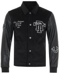 True Religion - Western Varsity Jacket - Black - Lyst