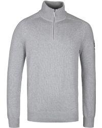 Henri Lloyd - Berson Gym Grey Regular Half Zip Knitted Jumper - Lyst