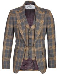 Vivienne Westwood Checked Waistcoat Jacket - Grey