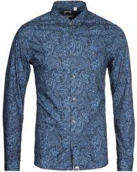 Pretty Green Slim Fit Paisley Print Shirt - Blue