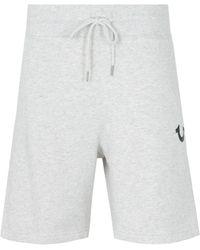 True Religion Logo Sweat Shorts - Heather Oatmeal - Gray