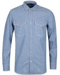 DIESEL Rooke Blue Chambray Work Shirt