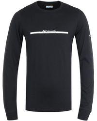 Columbia Lodge Bar Split Long Sleeve T-shirt - Black