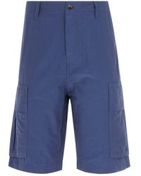 Pretty Green Cargo Metallic Navy Shorts - Blue