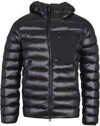 C P Company High-shine Down Padded Black Goggle Jacket