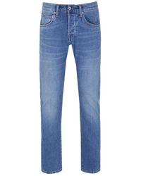 Edwin Ed-55 Cs Power Blue Denim Pacific Wash Regular Tapered Jeans