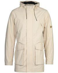Lyle & Scott Beige Panelled Parka Jacket - Brown