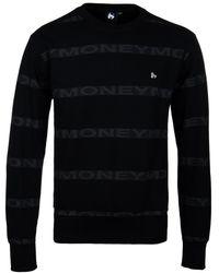 Money - Black Repeat Crew Neck Sweatshirt - Lyst