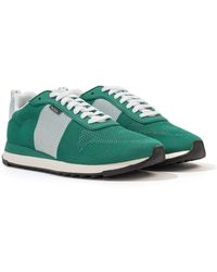 PS by Paul Smith Rappid Knitted Mesh Trainers - Green
