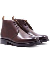 Grenson Wendell Dark Brown Leather Chukka Boots