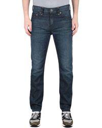 True Religion Rocco Slim Fit Super T Blue Jeans