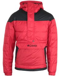 Columbia - Lodge Pullover Jacket - Red - Lyst