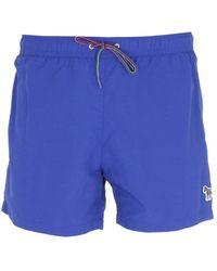 PS by Paul Smith Zebra Logo Swim Shorts - Blue