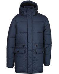 Edwin Navy Padded Street Parka Jacket - Blue