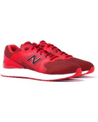 new balance 1550 red black trainers lyst