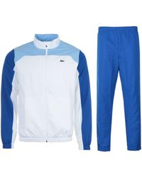 Lacoste Sport Color Block Tracksuit - White & Blue