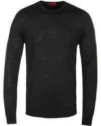 HUGO - San Lorenzo Black Knitted Jumper - Lyst