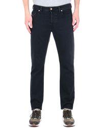 DIESEL Larkee Beex Black Wash Tapered Jeans