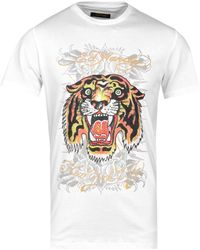 Ed Hardy Angry Tiger White T-shirt