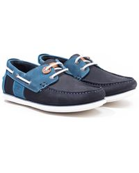 Barbour Capstan Leather Boat Shoes - Blue