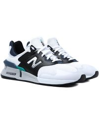 New Balance 997 Optic White With Black & Navy Mesh Sneakers