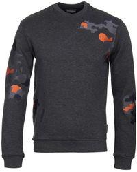 Emporio Armani Camo Grey Sweatshirt - Gray