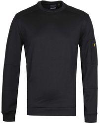 Lyle & Scott Crew Neck True Black Pocket Sweatshirt