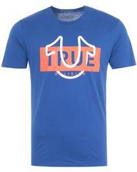 True Religion - Graphic Horseshoe Logo T-shirt - Mazarine Blue - Lyst