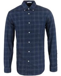 Gant Rugger - Grindle Marine Checked Twill Shirt - Lyst