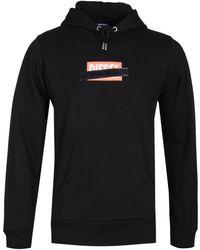 DIESEL S-girk-hood-s1 Black Logo Pullover Hoodie