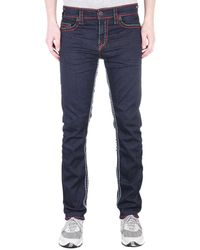 True Religion Geno Relaxed Slim No Flap Super T Inglorious Indigo Denim Jeans - Blue