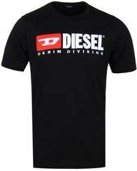 DIESEL Just-division Black T-shirt