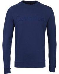 Calvin Klein - Navy Kasma Sweatshirt - Lyst