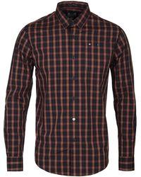 Weekend Offender - Tan Tartan Patton Shirt - Lyst