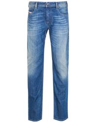 DIESEL Zatiny Pantaloni Bootcut Regular Fit Medium Blue Rinse Denim Jeans