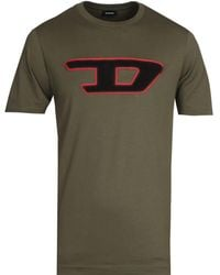 DIESEL Large Logo Green T-shirt