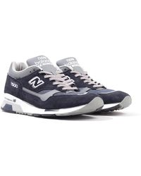 New Balance 1500 Made In England Suede Trainers - Navy & Grey - Blue