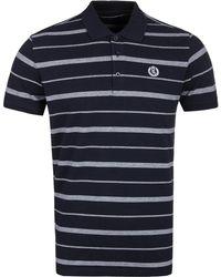 Henri Lloyd Sea Navy Stripe Pique Polo Shirt - Blue